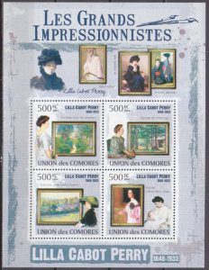 2009 Comoros Islands 2584-87KL Painting / Lilla Cabot Perry 10,00 €