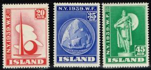 Iceland SC# 213 - 215 Mint Hinged - Lot 72515(2)