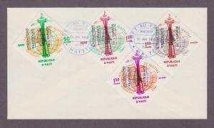 Haiti # 503 - 504 & Airmail # C206 -207 , Space Peace FDC - I Combine S/H