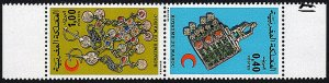 Morocco 373-374a tête-bêche pair,MNH.Moroccan Red Crescent Society. Jewelry,1976