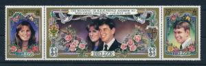 [95333] Belize 1986 Royalty Wedding Prince Andrew Flowers Doves  MNH