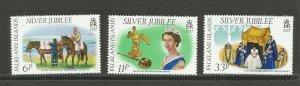 Falkland Islands 1977 Silver Jubilee Unmounted Mint Set SG 325/7