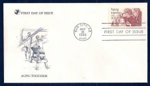 UNITED STATES FDC 20¢ Aging Together 1982 Readers Digest