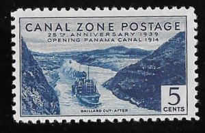 CANAL ZONE 123 5 cents 25th Anniversary Stamp Mint OG NH VF