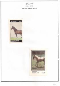 SCOTLAND - STAFFA - 1981 - Horses - Souv, D/L Sheets - M L H