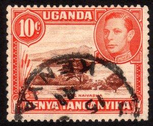 1938, British East Africa, Uganda 10c, Used, Sc 69