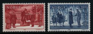 Norway 805-6 MNH EUROPA, King Haakon VII, Prince Olav