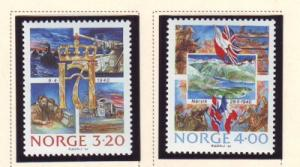 Norway Sc 975-6 1990 German Invasion stamp set mint NH