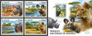 Z08 IMPERF ANG190207ab Angola 2019 National Parks MNH ** Postfrisch
