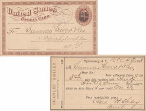 United States New York Ogdensburg 1878 segmented cork  During spelled Ogdensb...