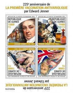 GUINEA - 2021 - Edward Janner - Perf 4v Sheet -Mint Never Hinged