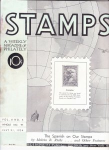 Stamps Weekly Magazine of Philately July 21, 1934 Stamp Collecting Magazine