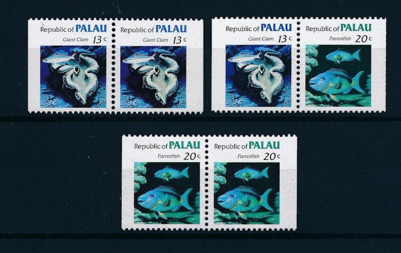 [48957] Palau 1984 Marine life Fish from booklets MNH