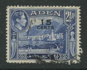 STAMP STATION PERTH Aden #38 - KGVI Definitive Overprint 1951 Used CV$1.30.