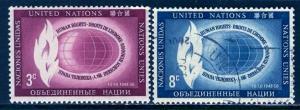 United Nations N.Y.; 1956: Sc. # 47-48: O/Used Cpl. Set