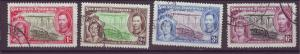 J20929 Jlstamps 1937 south rhodesia set used #38-41 royality/falls