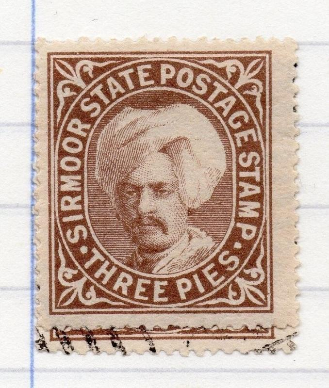 Sirmoor Indian States 1885-96 Early Issue Fine Mint Hinged 3p. 207633