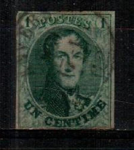Belgium Scott 9 Used VF (Catalog Value $125.00)