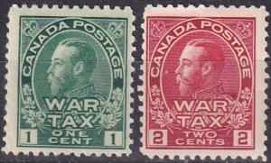 Canada #MR1-2   F-VF Unused CV $55.00  (K2916)