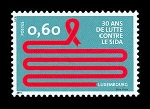 2011 Luxembourg 1914 30 Years of Fighting AIDS