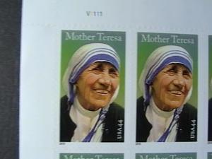 U.S.# 4475-MINT/NEVER HINGED-- PANE OF 20--MOTHER TERESA--2010