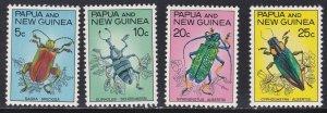 Papua New Guinea # 237-240, Beetles, NH, 1/2 Cat.