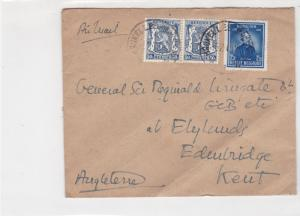 General Sir Francis Reginald Wingate 1948 multi Belgium Stamps Cover ref R 17353