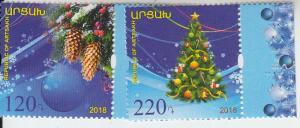 2018 Karabakh Christmas/New Years (2) (Scott NA) MNH