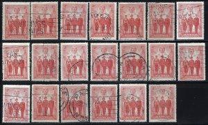 Australia 185 Used Lot of 20 (See Desc); SCV $30.00 ($1.50)