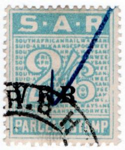 (I.B) South Africa Railways : Parcel Stamp 2/6d