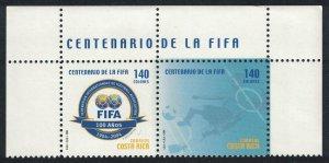 Costa Rica Centenary of FIFA Football Association Top pair SG#1772-1773