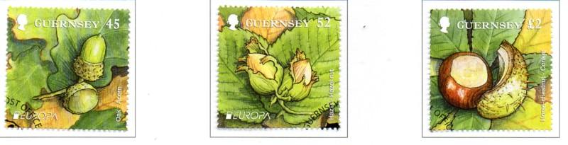 Guernsey Sc 1125-7 2011 Europa Forests stamp set used