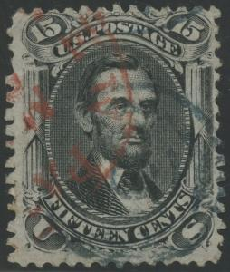 #77 F-VF USED WITH RED & BLUE CANCELS CV $240 BS5825