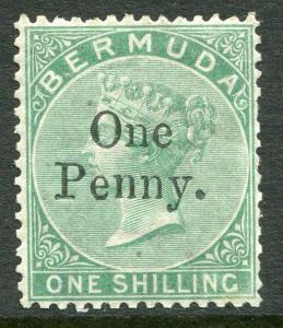 BERMUDA # 15 Fine Very Light Hinged Issue - QUEEN VICTORIA - S5753
