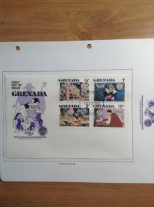 Grenada  #  1021-1029  First day cover