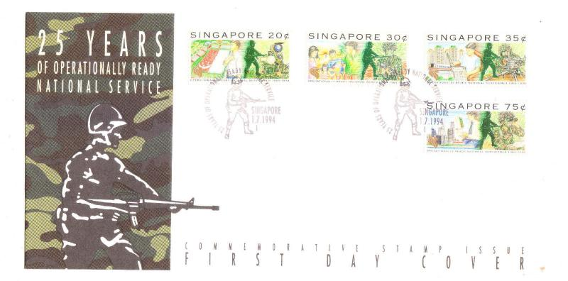 Singapore 1994 25 years operationally ready National Service FDC