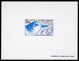 FSAT 1989 Sc#144 Blue Petrel BIRD Deluxe Souvenir Sheet Imperforated MNH