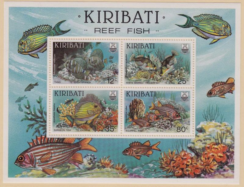 KIRIBATI MNH Scott # 452-455 Reef Fish (4 Stamps) -1