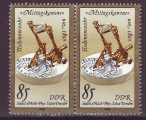 J19038 Jlstamps 1983 germany DDR hv of set pair mnh #2348 sundial