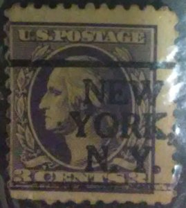 United States #501 & Precancel