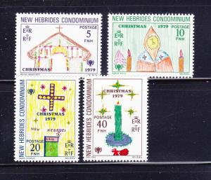 New Hebrides, British 272-275 Set MNH IYC, Christmas