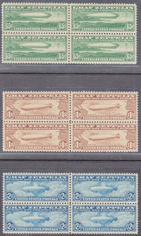 #C13-C15 ZEPPELIN SET XF-SUPERB OG NH GEM BLOCKS WL5013