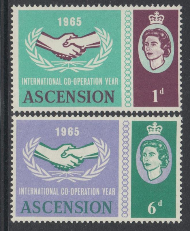 XG-L650 ASCENSION ISLAND - Intl. Cooperation Year, 1965 2 Values MNH Set