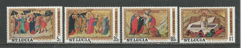 St. Lucia MNH 351-4 Easter 1974