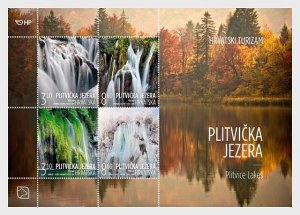 2019 Croatia Tourism Plitvice Lakes  MS4   (Scott NA) MNH