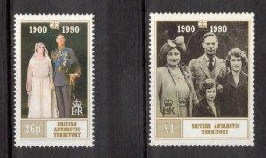 BRITISH ANTARCTIC 1990 Queen Mother Birthday; Scott 170-71,  SG 186-87; MNH
