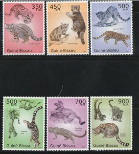 Guinea-Bissau MNH Animals Felines Cats Nature 2010