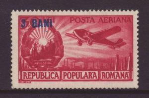 1952 Romania 3b on 50l Unmounted Mint