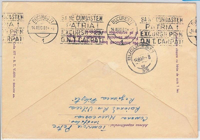 MOUNTAINEERING -  Wrestling - POSTAL STATIONERY COVER - ROMANIA 1961