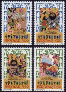 Faroe Islands - 1986 - Scott #139-42 - MNH - Skrimsla Folk Ballad